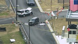One was killed as a stolen vehicle sped into the National Security Agency section of the Fort Hood facility Monday morning.