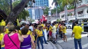Colombians flooding the streets of Miami Photo by Joelle Ramos