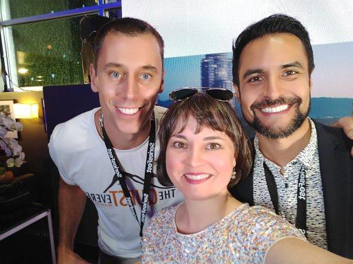 Alex Harz, Andrea Bazoin, and Augusto Valverde