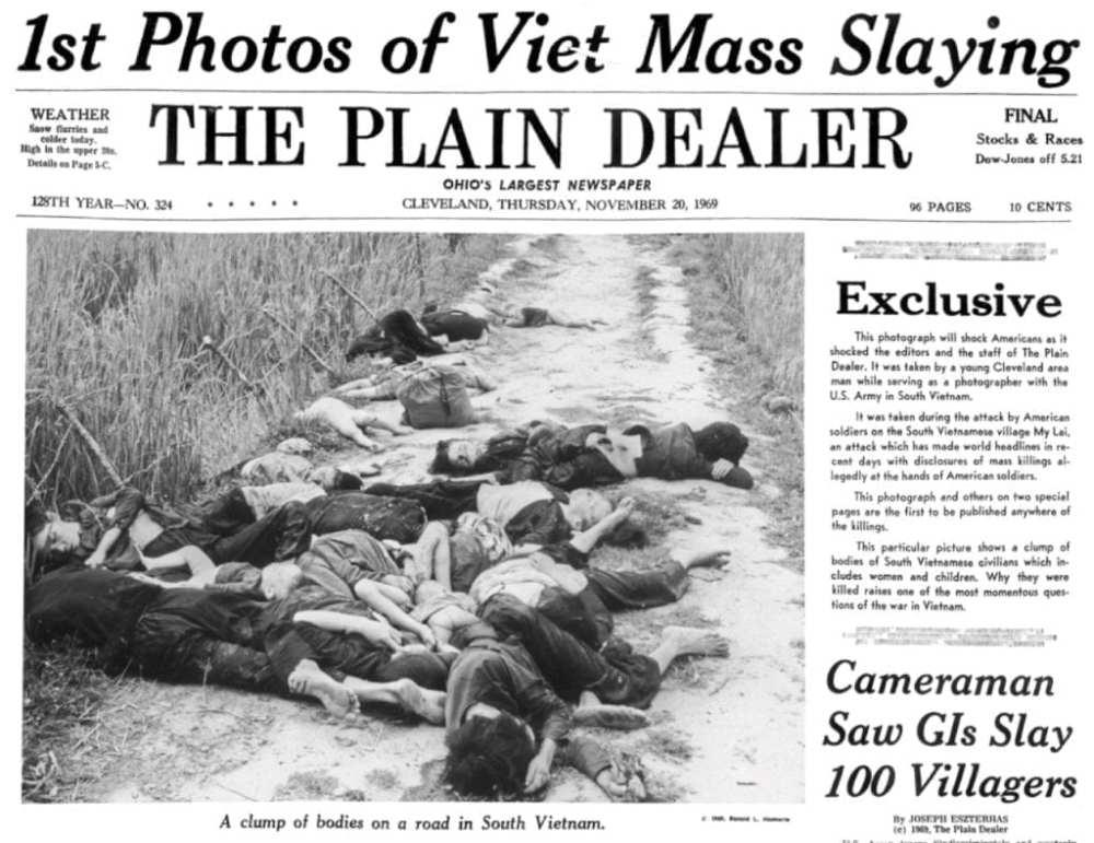 Front page Cleveland Plain Dealer November 20 1969