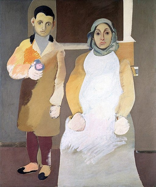 The Artist and His Mother by Arshile Gorky