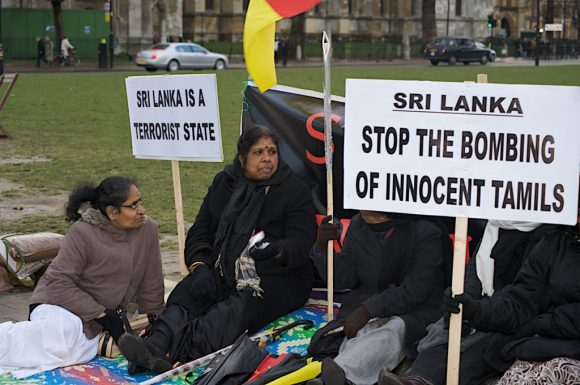 Tamil protesters UK