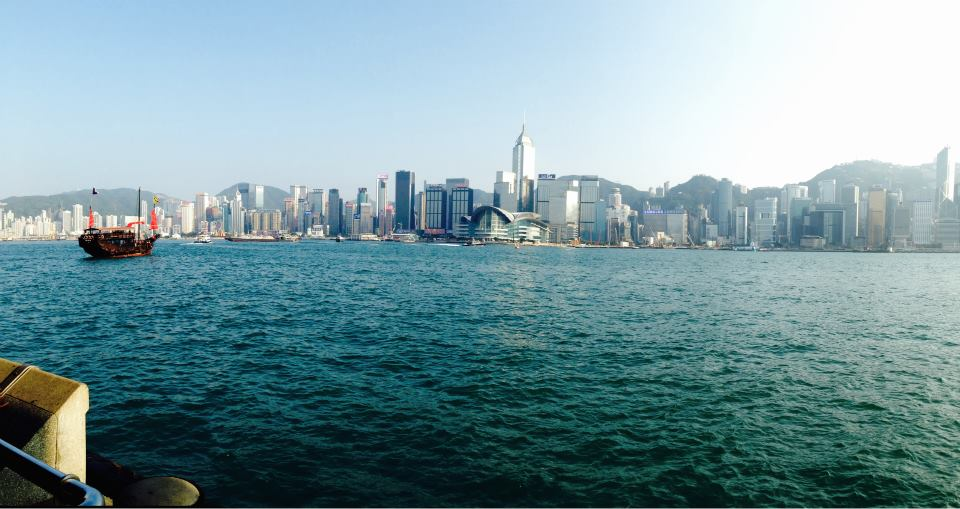 Photo is of Hong Kong, the city Gregory grew up in.