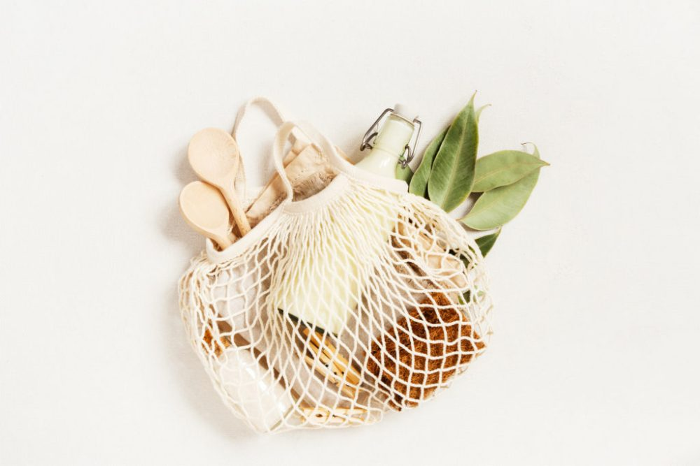 improve the environment with Zero waste shopping, concept of reusable and plastic free lifestyle, eco friendly products licensed through envato elements