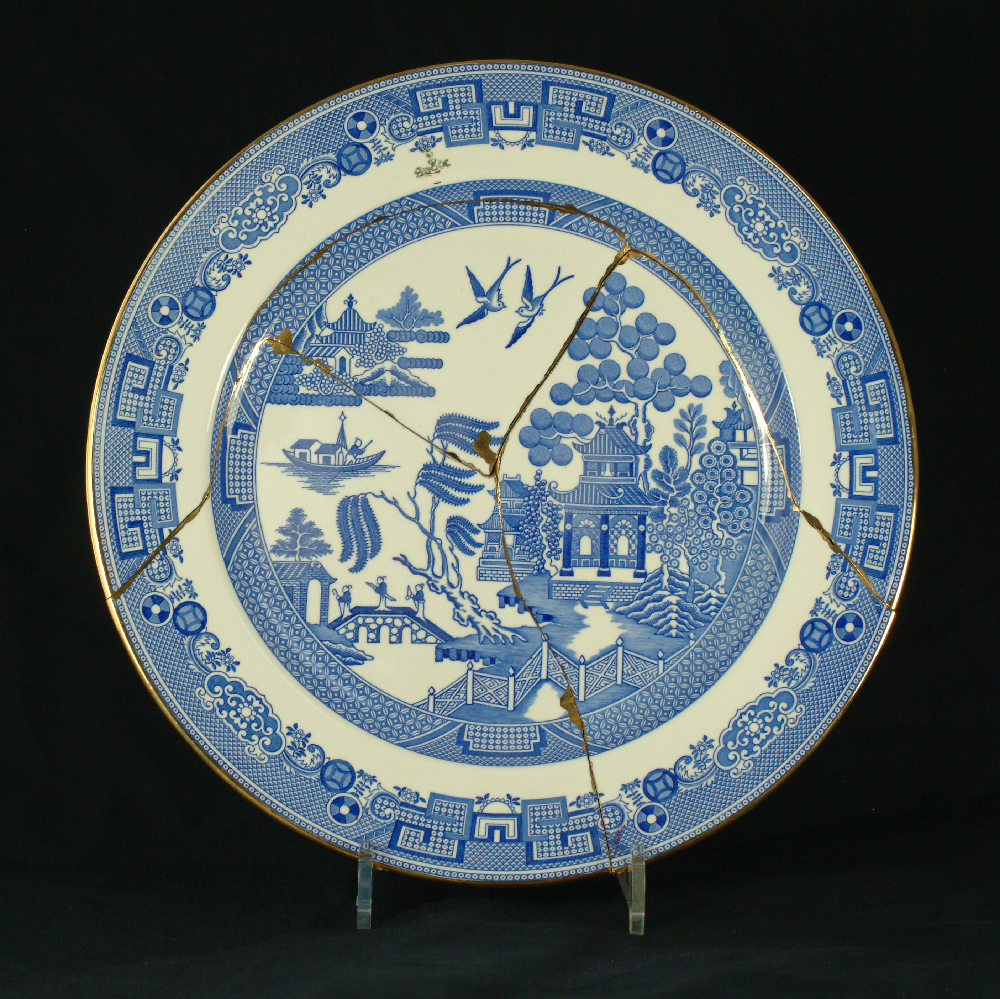 Scott's Cumbrian Blue(s) Spode Works Closed Willow
