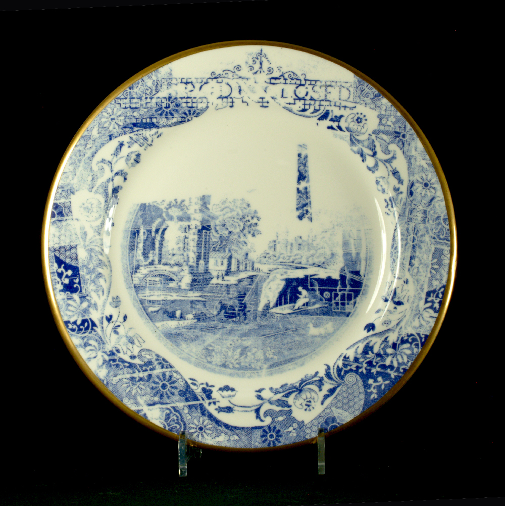 Scott's Cumbrian Blue(s) Spode Works Closed Kiln