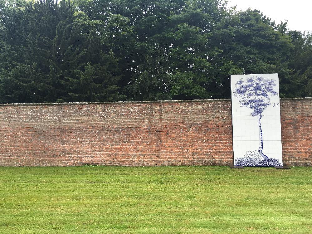 Cumbrian Blue(s) Tree after Davenport/Spode at Cheeseburn Sculpture Park Northumberland, July 2016