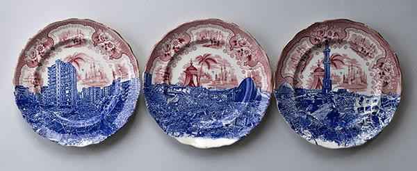 Scott's Cumbrian Blue(s), Palestine, Gaza 2014, Triptych.