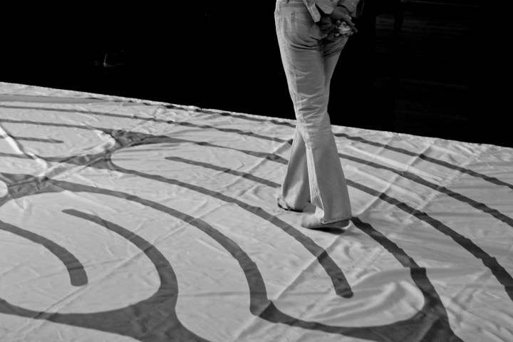 Person walking on Labyrinth