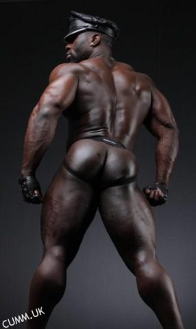 1st anal leather daddy black