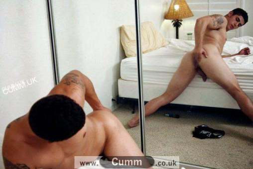 mirror wanking arse exposed