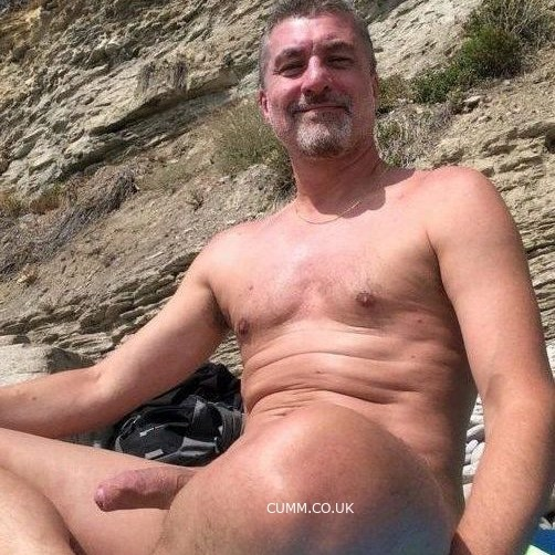 mature daddy big beach hardon