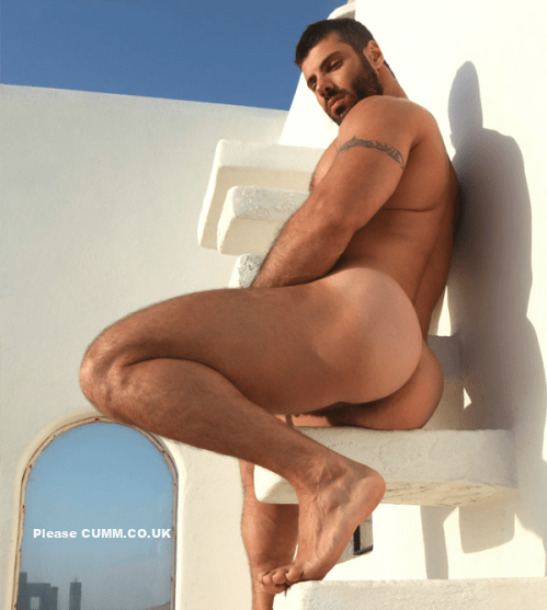 hot guy gay shows his ass