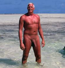 daddy-show-off-beach-tanned-hung-mature