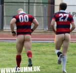 Straight Men Acting Gay Pants Down Rugby Bulge Grab (7)