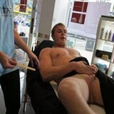 TOM BURGESS BALLS WAXED FOR CHARITY