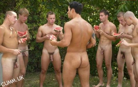 a Naked Watermelon feast before a game of gay chicken