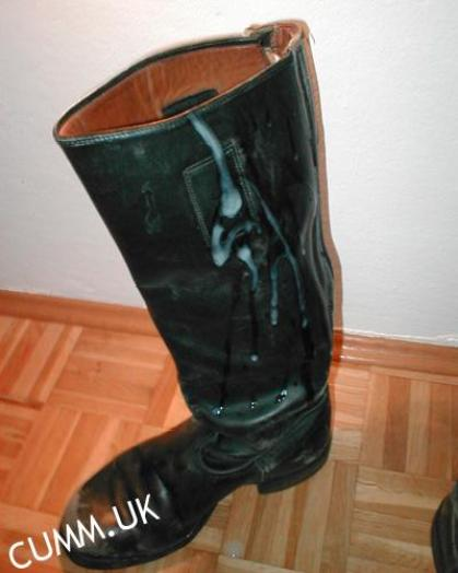 big spunked leather boots