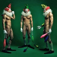Nude clowns