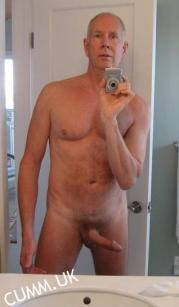 cock selfie silver daddy erect