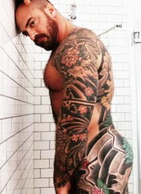 inked sexy man