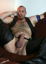 leather daddy cigar erection