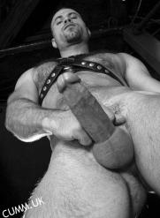 leather daddy sucked