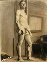 male model Academic Nude Unknown Artist