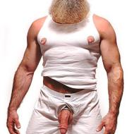 man nipples erect huge bearded man