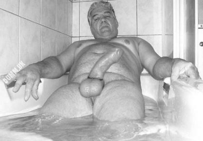 mature grandpa big thick cock and balls
