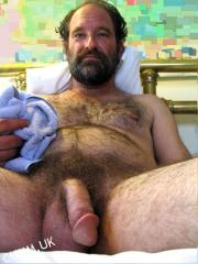 mature silver dad flaccid