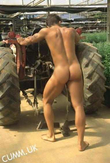 naked farmers son