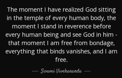 """Swami Vivekananda (Bengali: স্বামী বিবেকানন্দ) Bengali: [ʃami bibekanɒnɖo] ( listen), Shāmi Bibekānondo; 12 January 1863 – 4 July 1902), born Narendranath Datta (Bengali: নরেন্দ্রনাথ দত্ত) (Bengali: [nɔrend̪ro nat̪ʰ d̪ɔt̪t̪o]), was an Indian Hindu monk, a chief disciple of the 19th-century Indian mystic Ramakrishna. He was a key figure in the introduction of the Indian philosophies of Vedanta and Yoga to the Western world[4] and is credited with raising interfaith awareness, bringing Hinduism to the status of a major world religion during the late 19th century.[5] He was a major force in the revival of Hinduism in India, and contributed to the concept of nationalism in colonial India.[6] Vivekananda founded the Ramakrishna Math and the Ramakrishna Mission.[4] He is perhaps best known for his speech which began, """"Sisters and brothers of America ...,""""[7] in which he introduced Hinduism at the Parliament of the World's Religions in Chicago in 1893. Born into an aristocratic Bengali family of Calcutta, Vivekananda was inclined towards spirituality. He was influenced by his Guru, Ramakrishna Deva, from whom he learnt that all living beings were an embodiment of the divine self; therefore, service to God could be rendered by service to mankind. After Ramakrishna's death, Vivekananda toured the Indian subcontinent extensively and acquired first-hand knowledge of the conditions prevailing in British India. He later travelled to the United States, representing India at the 1893 Parliament of the World Religions. Vivekananda conducted hundreds of public and private lectures and classes, disseminating tenets of Hindu philosophy in the United States, England and Europe. In India, Vivekananda is regarded as a patriotic saint and his birthday is celebrated there as National Youth Day."""