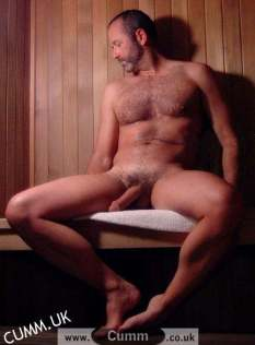 sauna mature man semi