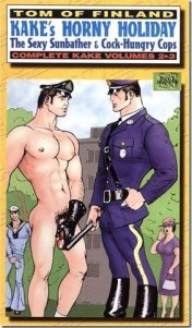 tom of finland horny holiday, the sexy sunbather and the cock hungry cop