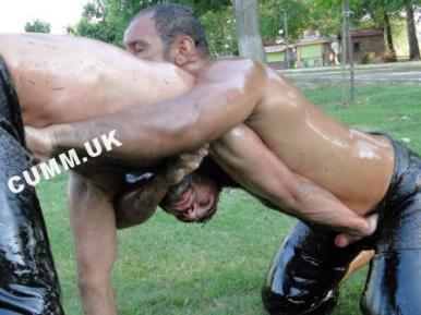 turkish oil wrestling cock exposed