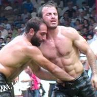 turkish wrestler hands down opponents bulge grabbing