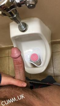I'm in the park rest room sitting in an open stall, when this hot man in his sixties come and see me and unzips his pants and whips out his dick that fill his hand, and it is soft. walking toward me he is shaking it and it begins to grow. At that point my cock went hard, while he smiles and stood in front of me and slowly filled my mouth with his huge fat dick. At that point I was so hot , i could only service that growing dick felling it get bigger and hard. He took one step back and slapped me in the face with that huge piece of meat, and I shot my load. We continued to meet for a few years after that brace_K