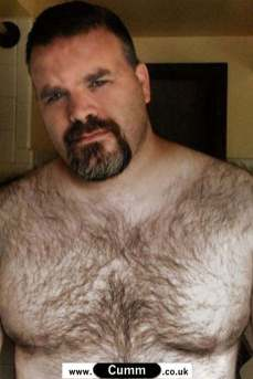 hairy man chester barechested