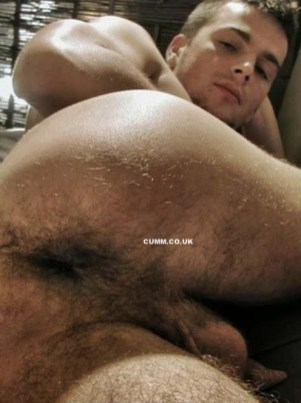 young man hairy hole