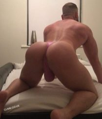 god in bed thong daddy pink