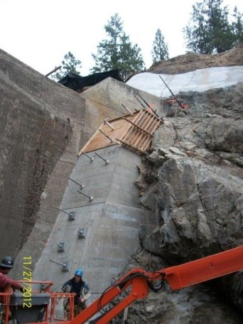 Penticton Dam #2 Rehabilitation work by Cumming Construction