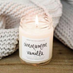 hygge cinnamon vanilla candle
