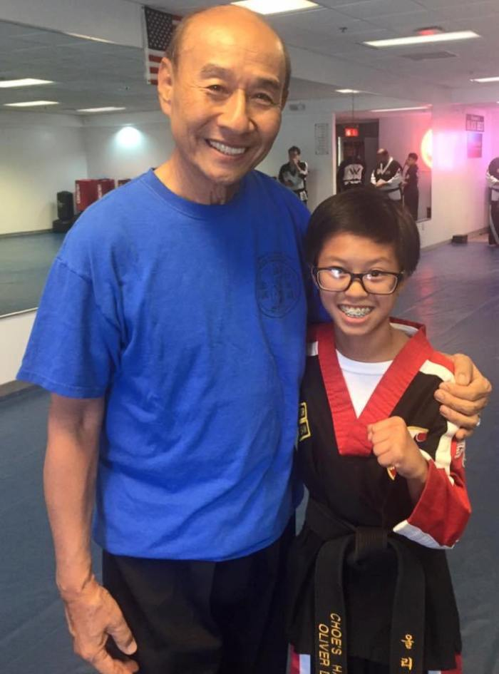 Grandmaster JiMong Choe with Choe's HapKiDo Cumming Student