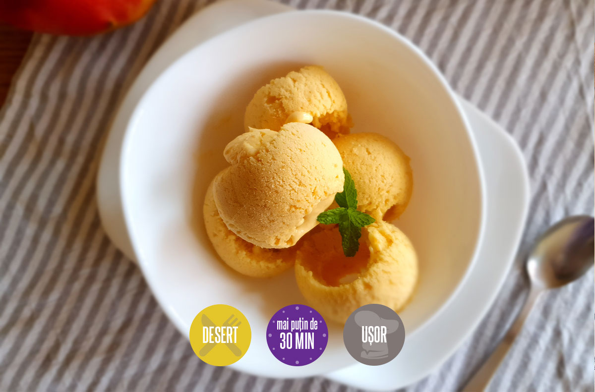 înghețată de mango