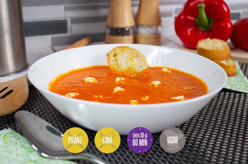 supă-cremă de roșii coapte