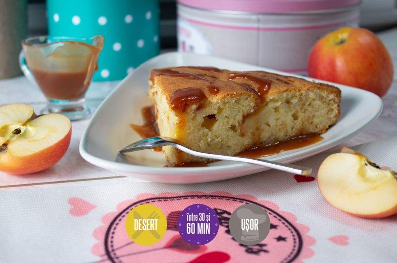 pandișpan franțuzesc cu mere și sos caramel