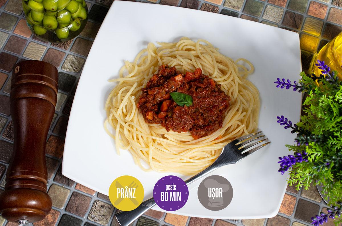 spaghete cu sos bolognese