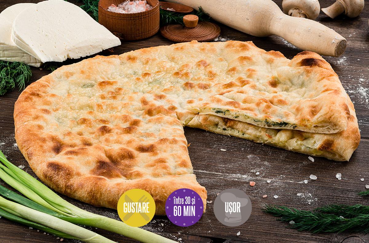plăcintă cu brânză cartofi și ceapă