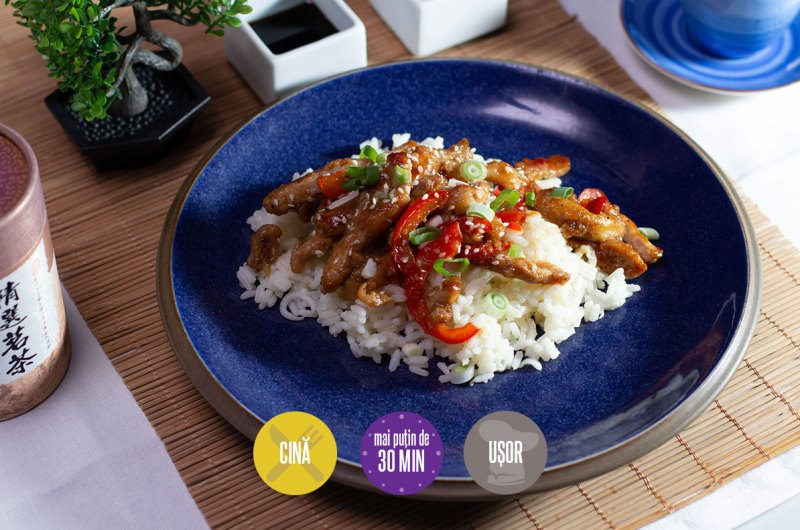 porc cu orez în stil chinezesc